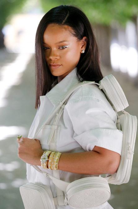 Singer Rihanna attends the Louis Vuitton Menswear Spring/Summer 2019 show as part of Paris Fashion Week on June 21, 2018 in Paris, France.