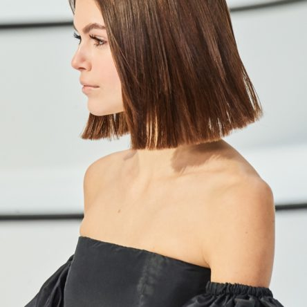 Kaia Gerber Chanel 2020 Frizzy Smooth Hair Vogue Singapore