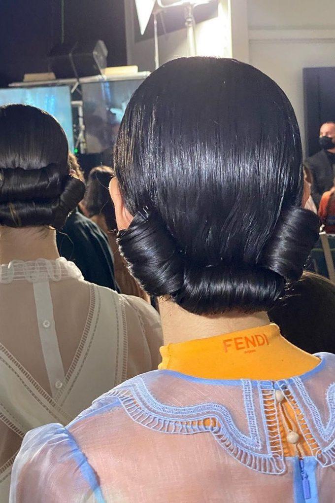 Fendi spring_summer 2020 Milan fashion week Vogue Singapore 2020 Sam McKnight hair