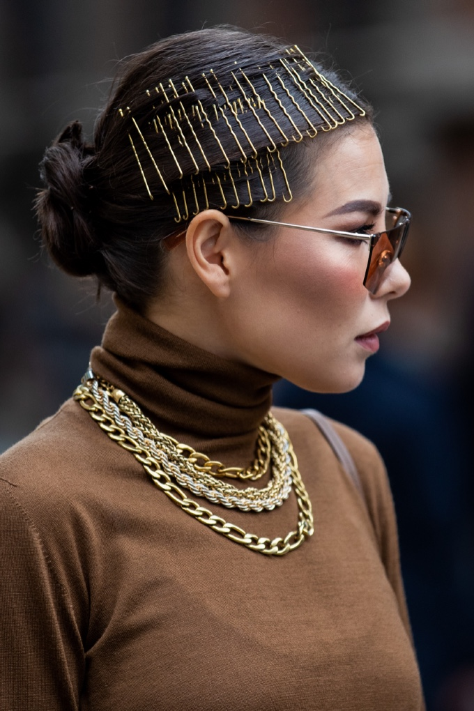 Milan Fashion Week MFW Spring Summer 2021 Beauty Street Style Hair