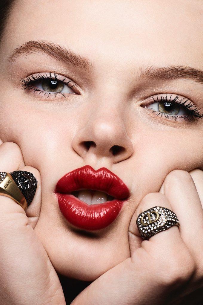 Vogue Singapore January 2021 - Rouge Dior lipstick matte satin metallic makeup skincare - Ben Hassett