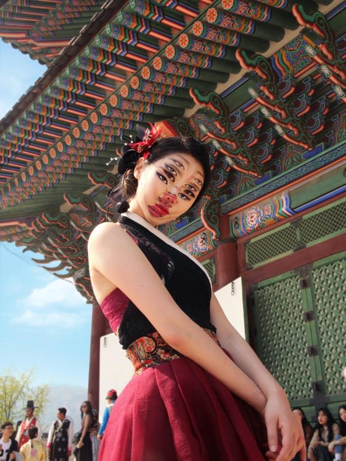 Vogue Singapore March 2021 - Dain Yoon beauty make-up artist optical illusion surrealist art Korean viral Instagram