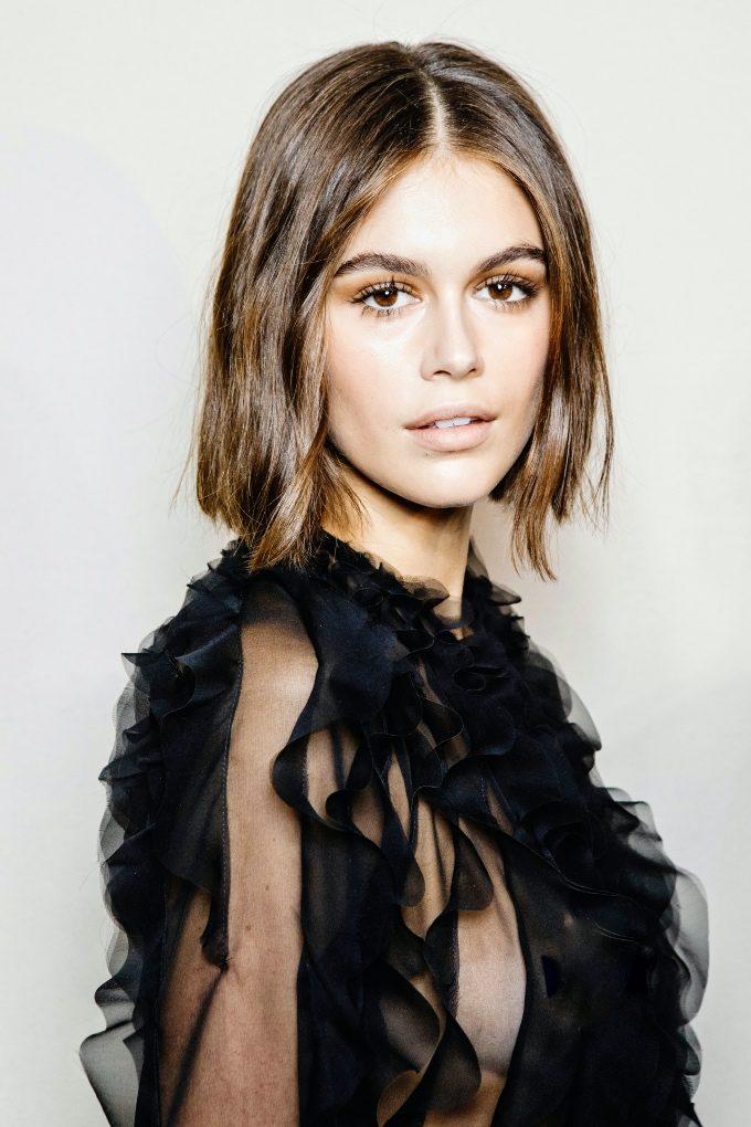 Vogue Singapore March 2021 - Kaia Gerber skin beauty hair makeup