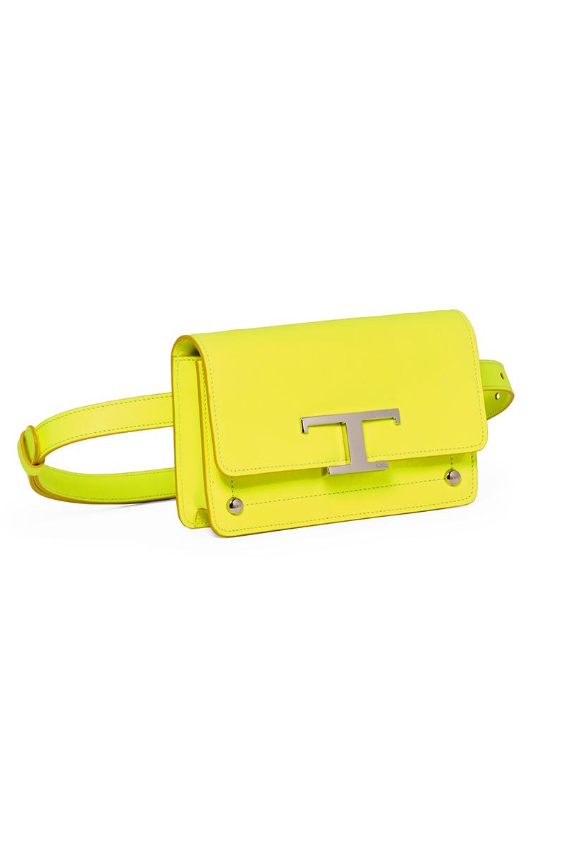 tod's yellow belt bag
