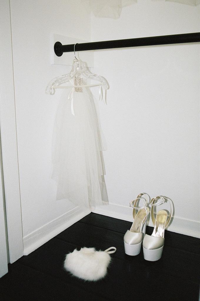 Ariana Grande's wedding veil and platform heels