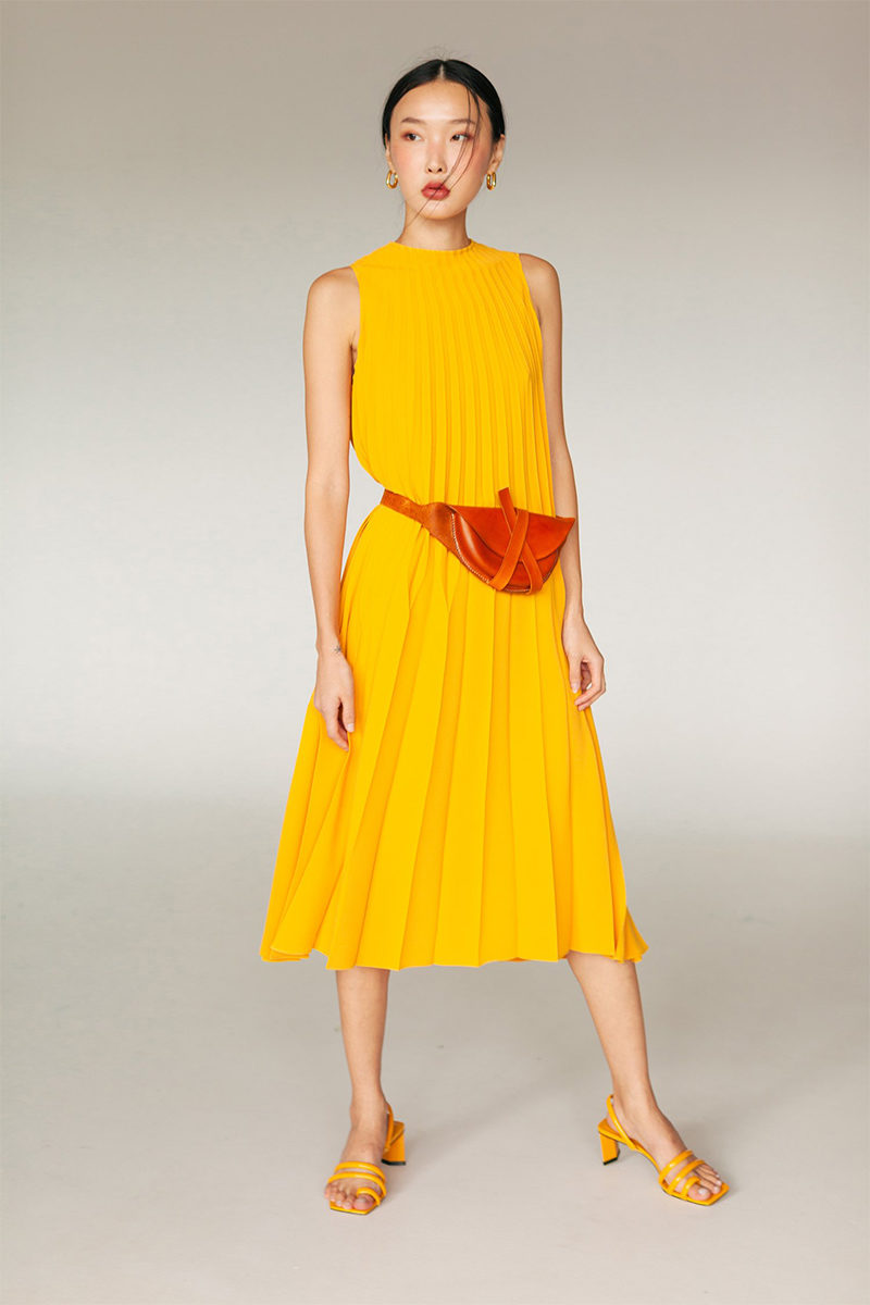 ginlee studio yellow dress