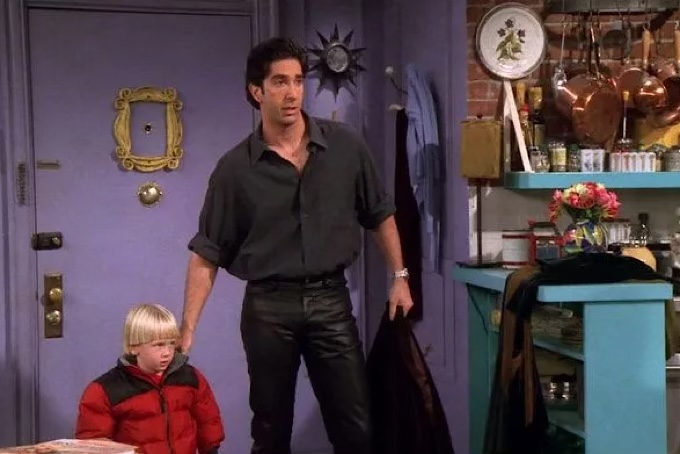 friends fashion ross leather pants