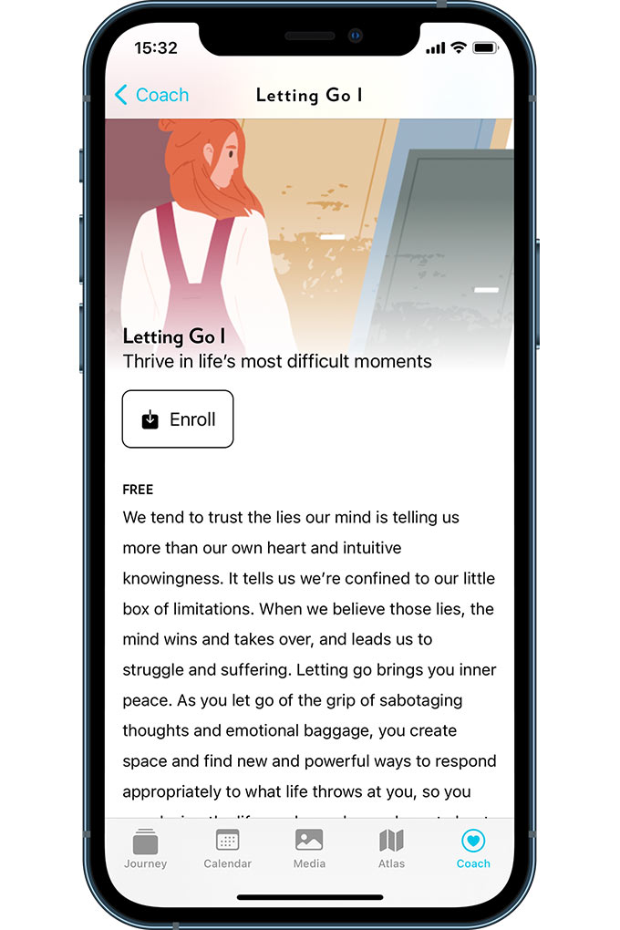 The Letting Go course on the Journey Journaling App on Apple's App store
