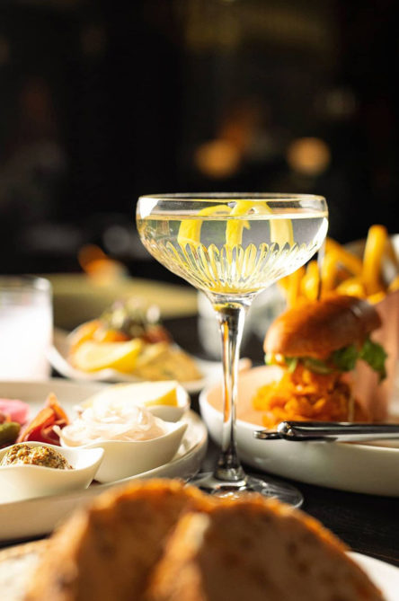 Cocktail and food