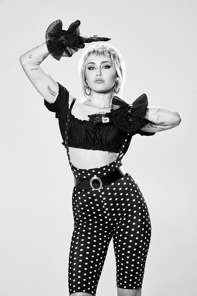 Multi-platinum pop star Miley Cyrus talks about her godmother Dolly Parton, why she wants to work with Billie Eilish and how social media can instigate important conversations