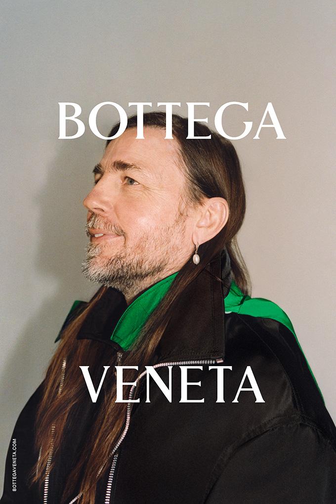 Mark Leckey modelling for the Bottega Veneta Wardrobe 02 collection