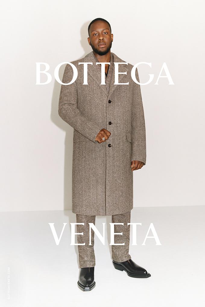 Caleb Jemi modelling for the Bottega Veneta Wardrobe 02 collection