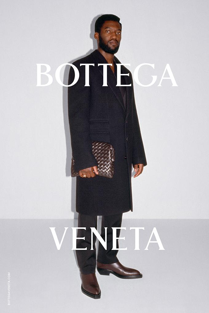 Malachi Kirby modelling for the Bottega Veneta Wardrobe 02 collection