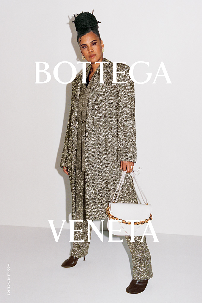 Neneh Cherry modelling for the Bottega Veneta Wardrobe 02 collection