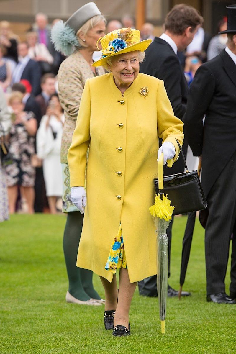 Queen Elizabeth fashion yellow