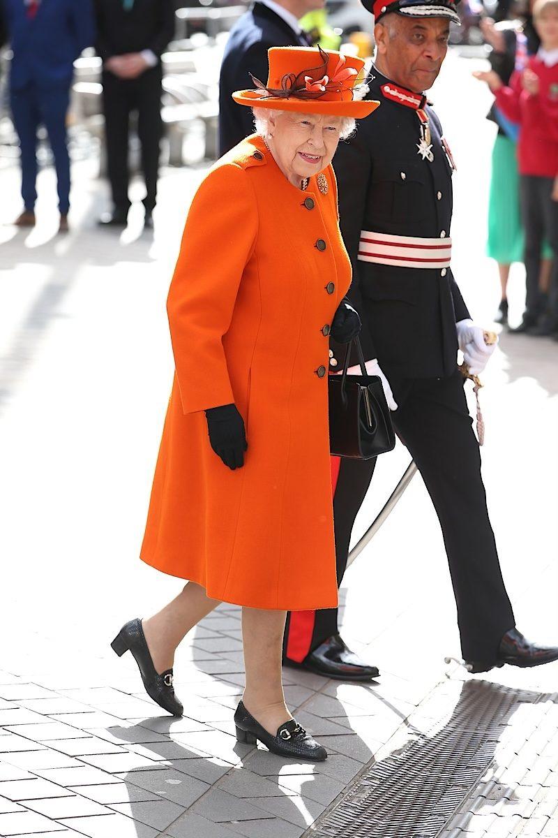 Queen Elizabeth fashion orange