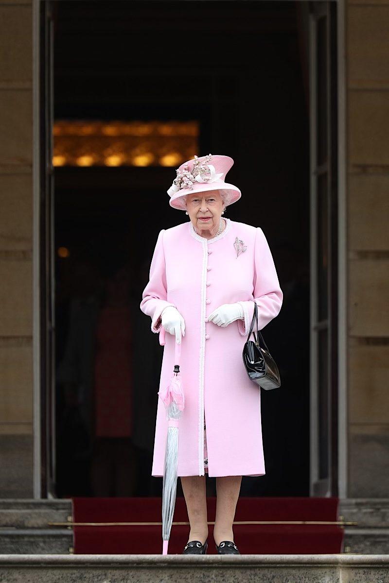 Queen Elizabeth fashion pink pastel