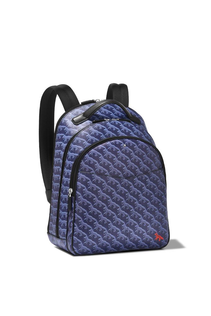 montblanc x maison kitsune backpack
