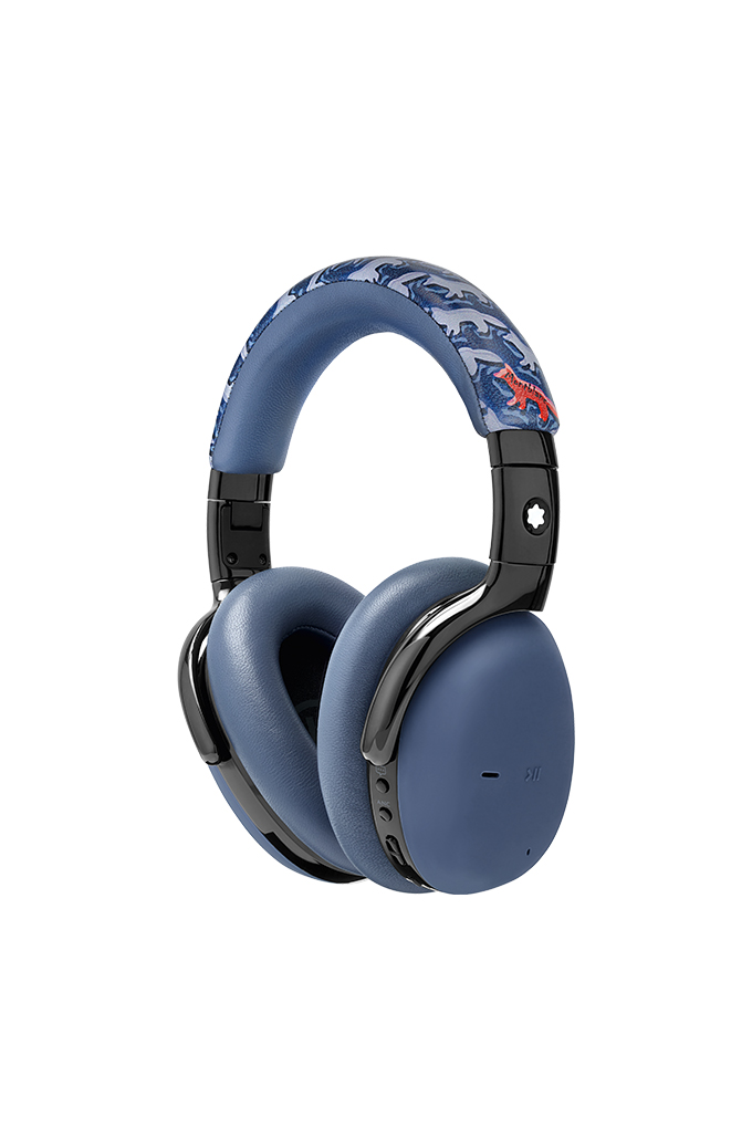 montblanc x maison kitsuné headphones