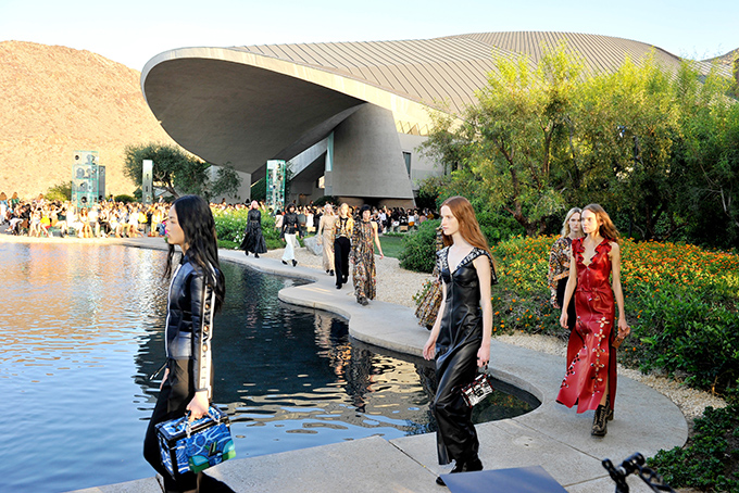 Louis Vuitton Cruise 2016 at Bob Hope house, Palm Springs, California, US