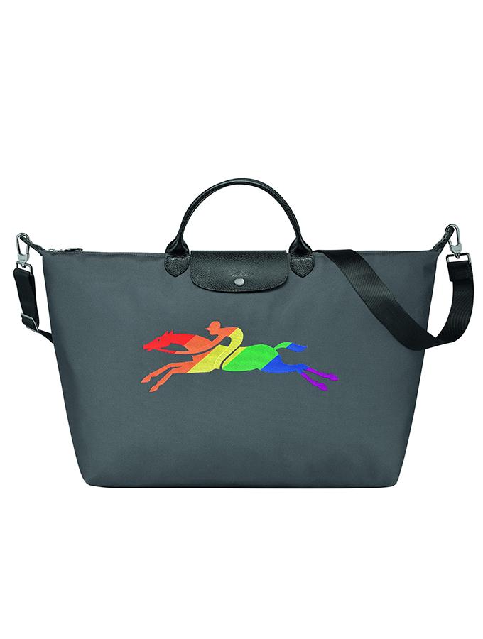 Longchamp Pride-inspired Le Pliage travel bag