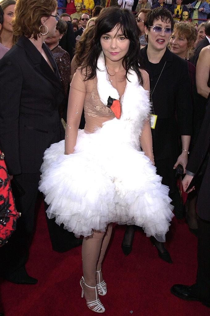 dior swan dress bjork