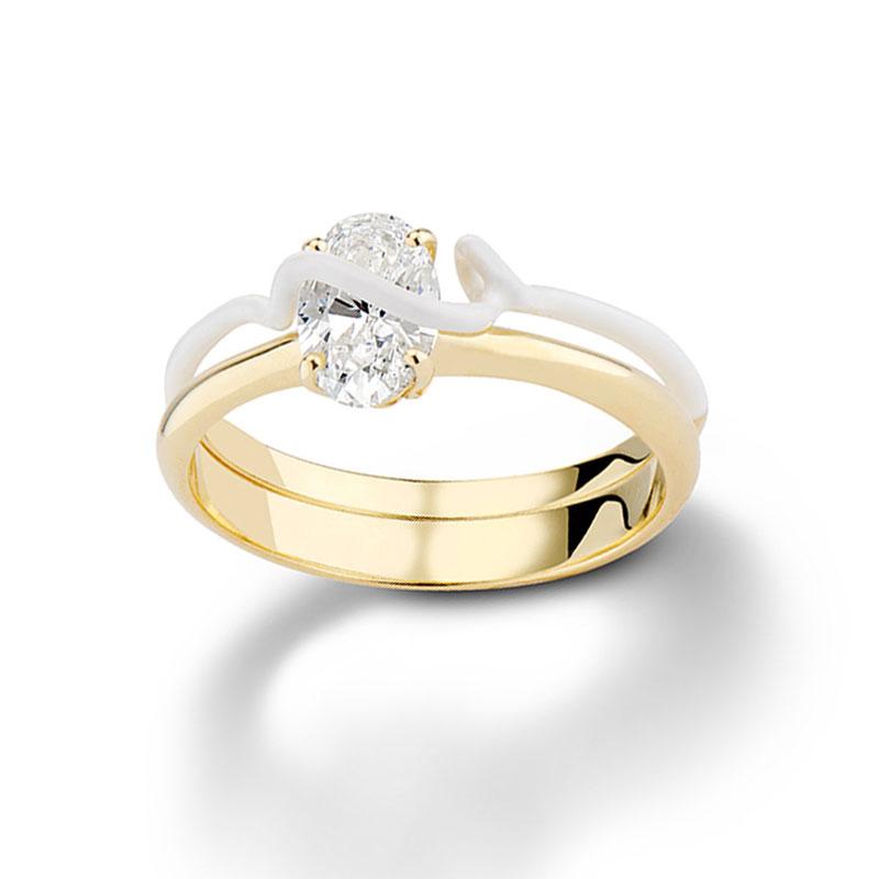 Oval engagement rings Bea Bongiasca