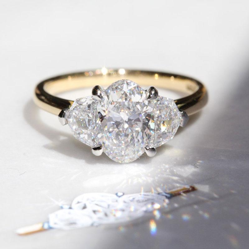 Oval engagement rings Benjamin Hawkins