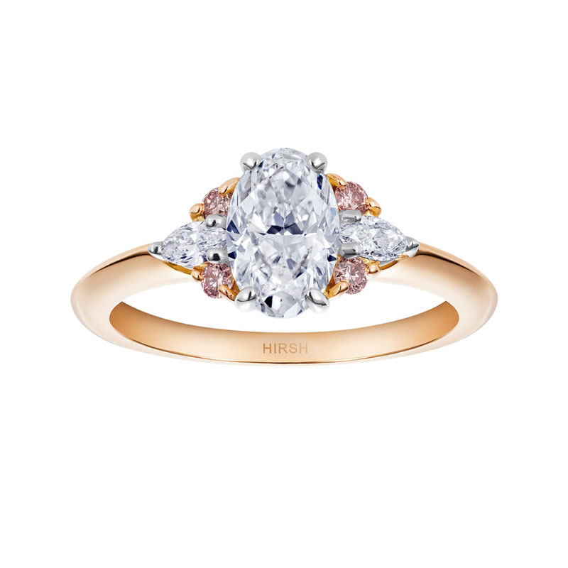 Oval engagement rings Hirsh