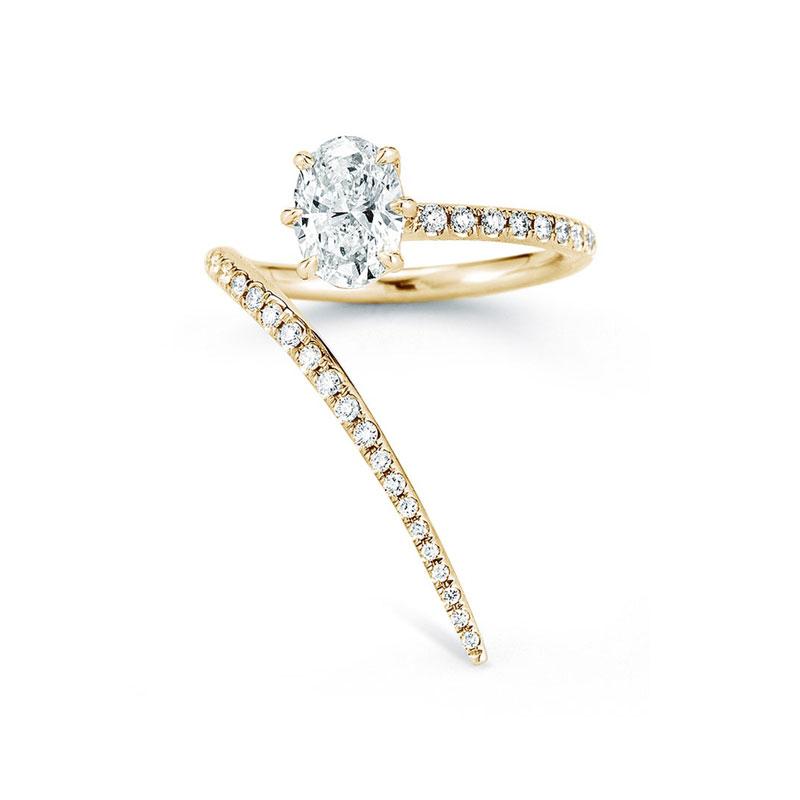 Oval engagement rings Jade Trau