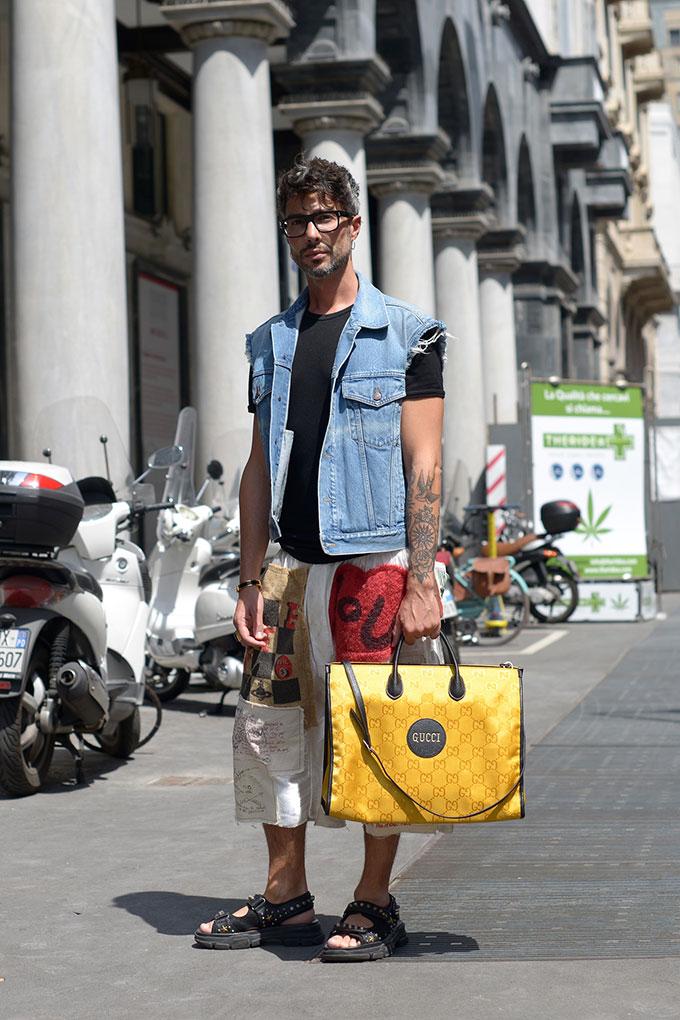 Street style from Milan Fashion Week Spring 2022 menswear shows