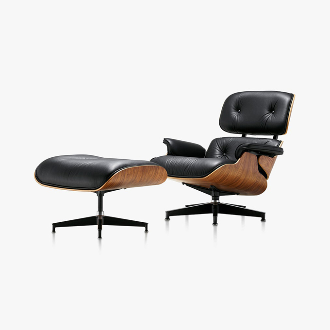 The Eames Lounge by Charles and Ray Eames for Herman Miller