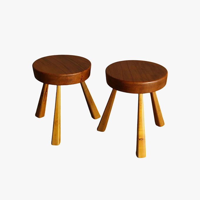 Tables and Stools by Charlotte Perriand for Cassina