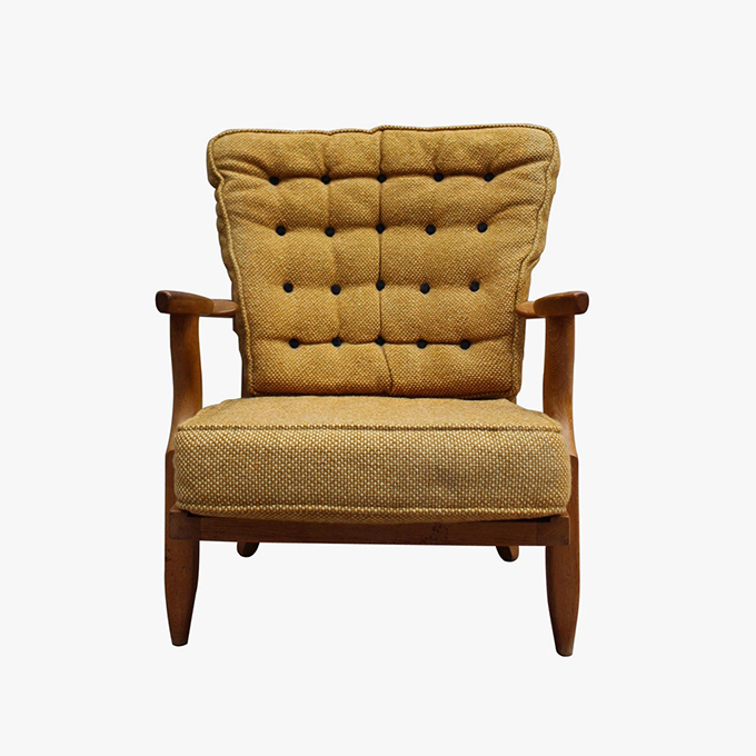 Grand Repos Armchair by Guillerme et Chambron
