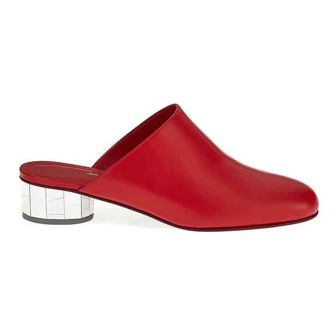 Mirrored heel mules from Ferragamo's Let's Dance shoe collection