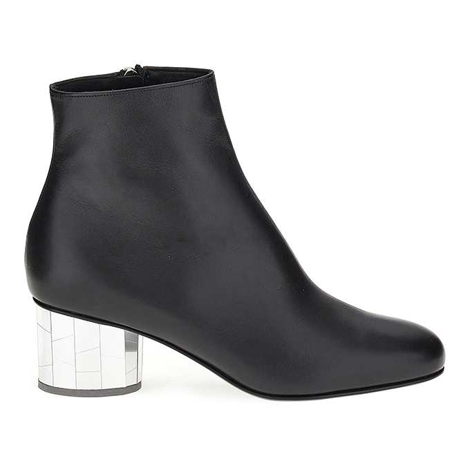 Mirrored heel ankle boots from Ferragamo's Let's Dance shoe collection