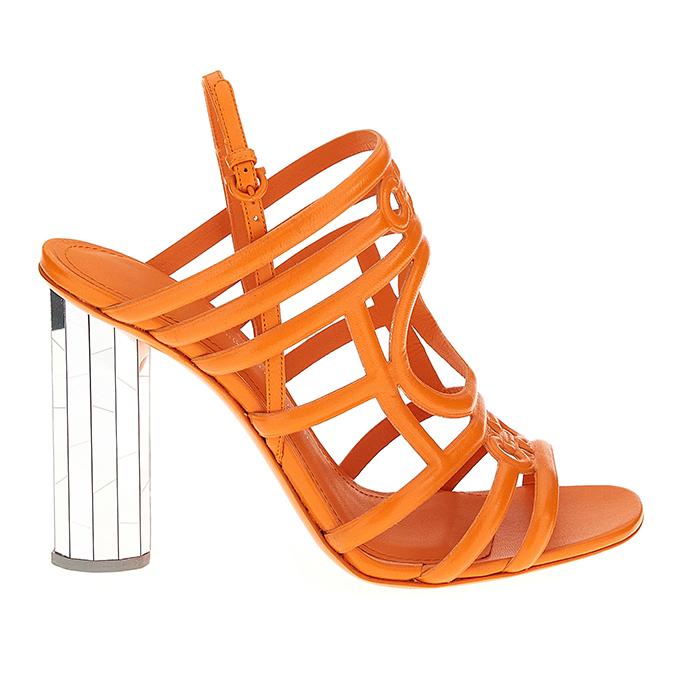 Mirrored heel sandals from Ferragamo's Let's Dance shoe collection