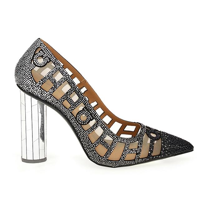 Mirrored heel pumps from Ferragamo's Let's Dance shoe collection