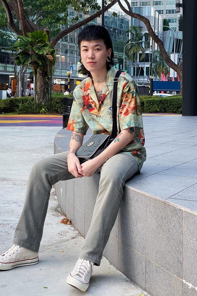 Transgender Singaporean musician Cayes Hotwheels Hong