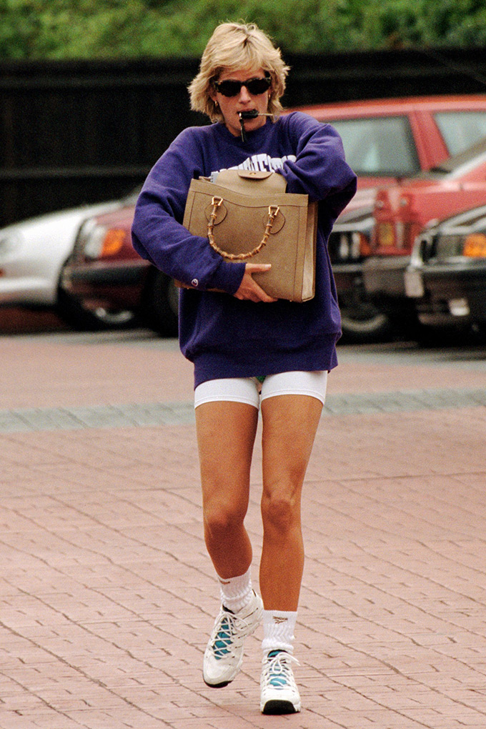 Princess Diana carrying the Gucci bamboo tote
