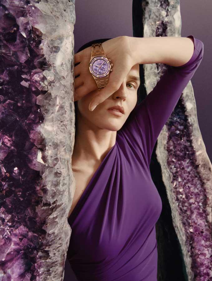 Audemars-piguet-harley-weir-amethyst-watch-model-look