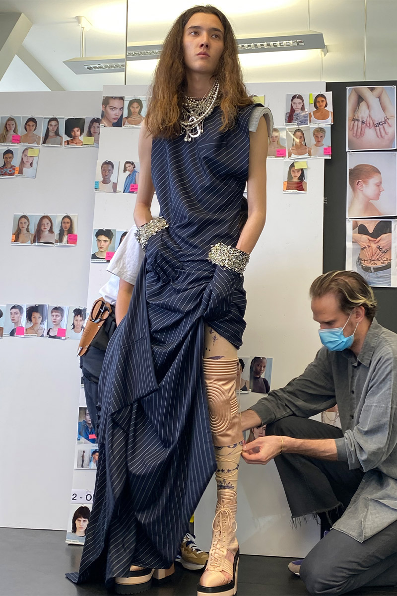 Gaultier Paris by Sacai AW21 haute couture collection dress