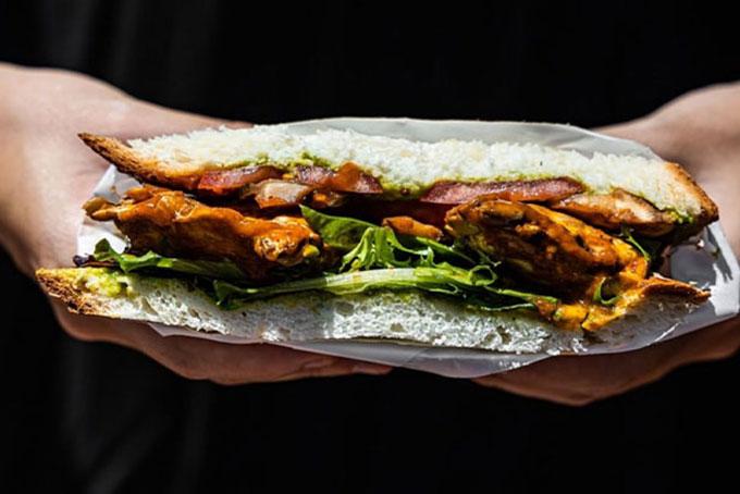 Vegan Club Tempeh Sandwich