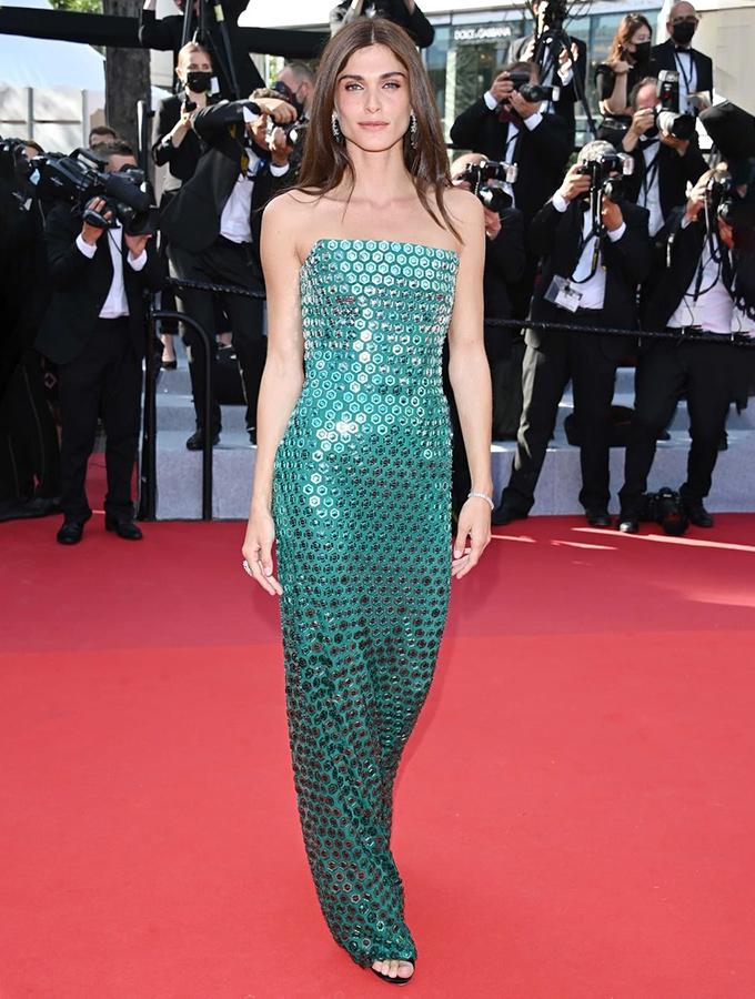 Elisa Sednaoui in Alberta Ferretti at Cannes Film Festival 2021
