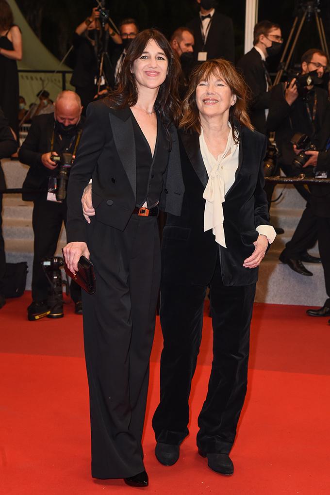 Charlotte Gainsbourg in Saint Laurent and Jane Birkin in Celine at Cannes Film Festival 2021