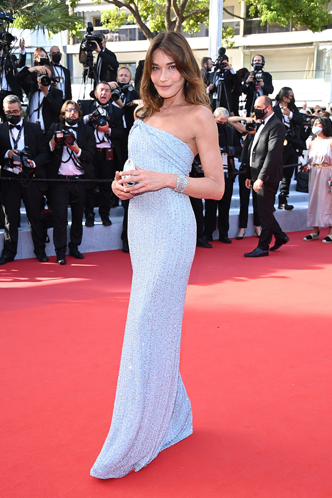 Carla Bruni in Celine at Cannes Film Festival 2021
