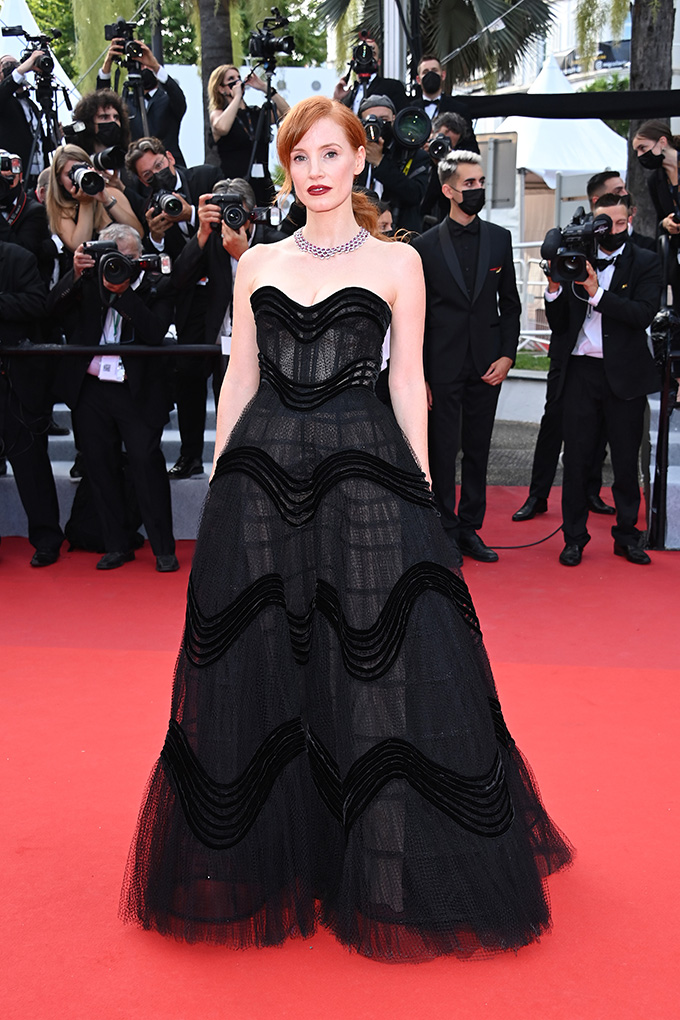 Jessica Chastain in Dior at Cannes Film Festival 2021