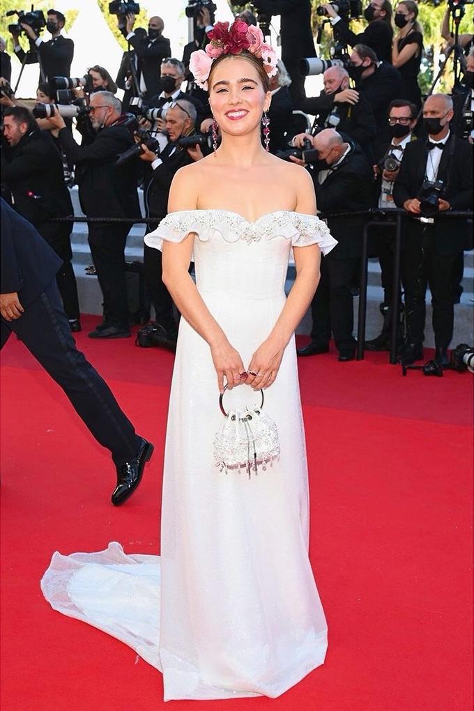 Haley Lu Richardson in Rodarte at Cannes Film Festival 2021