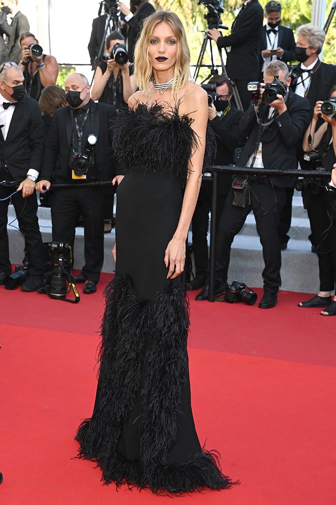Anja Rubik in Saint Laurent at Cannes Film Festival 2021