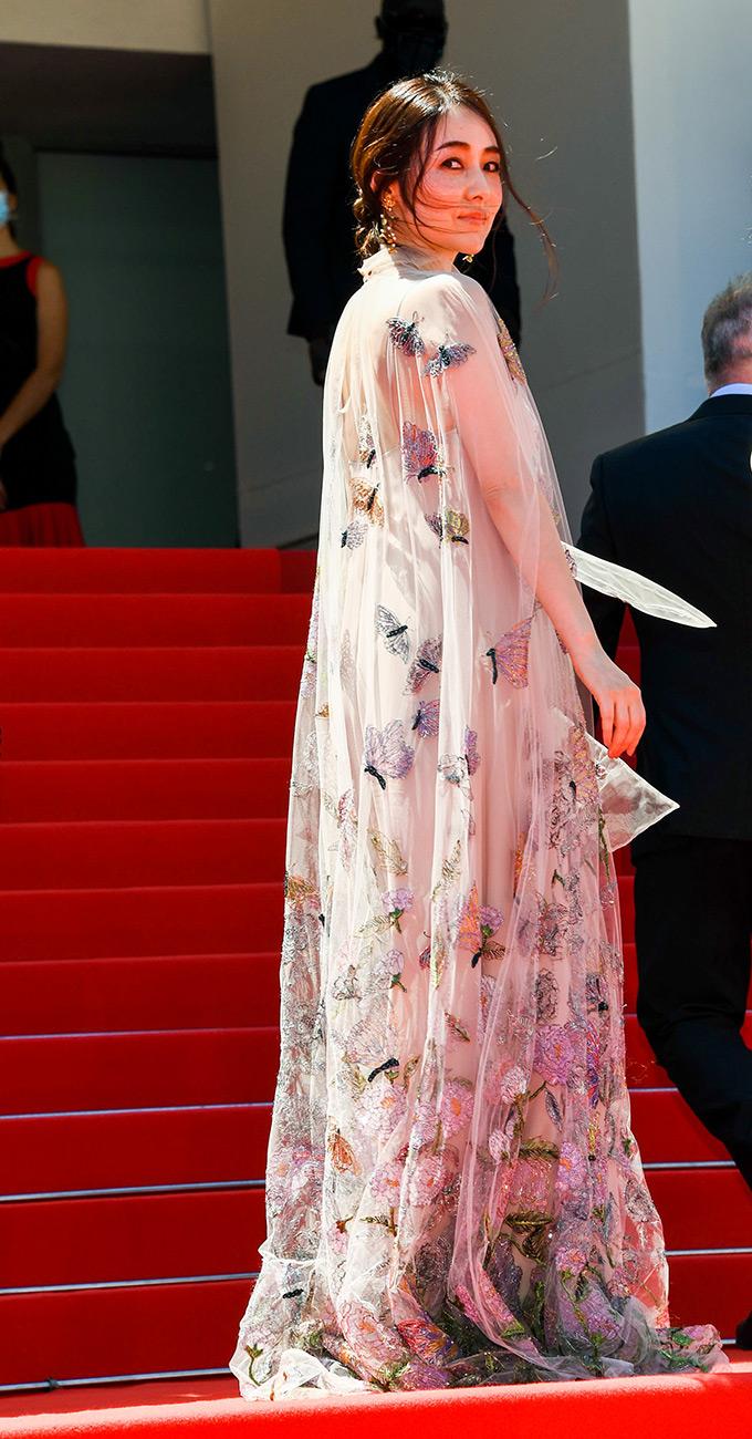 Reika Kirishima in Valentino at Cannes Film Festival 2021